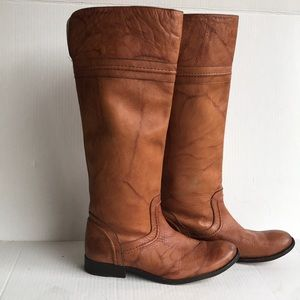 FRYE Melissa Trapunto Knee High Leather Boots 9M